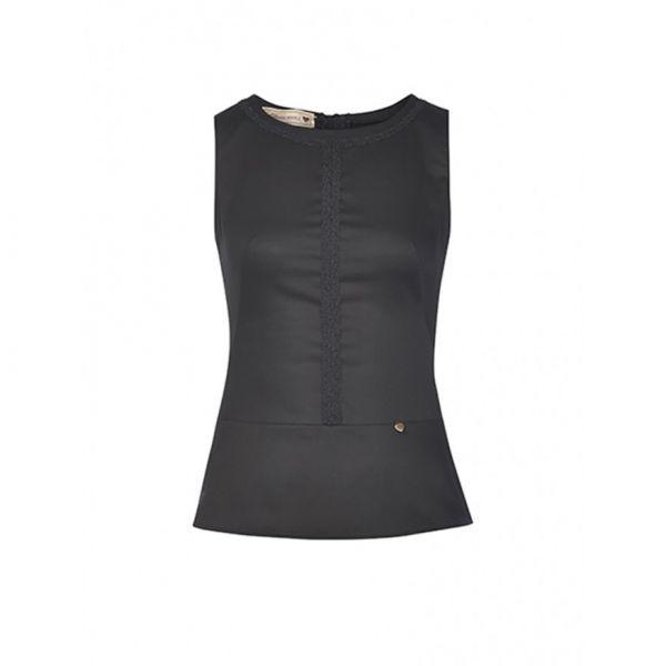 best cheap 39007 3827b Damen Bluse Melissa ärmellos, schwarz