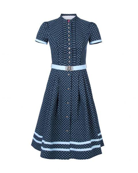 Kleid Rubina 65cm, dunkelblau/hellblau