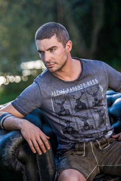 T-Shirt Naughty Boy, grau