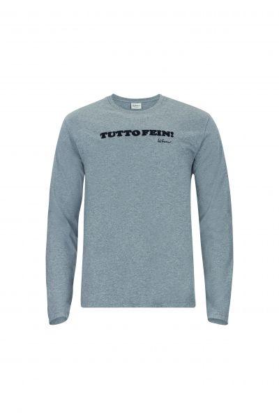 T-Shirt Tutto fein langarm, grau