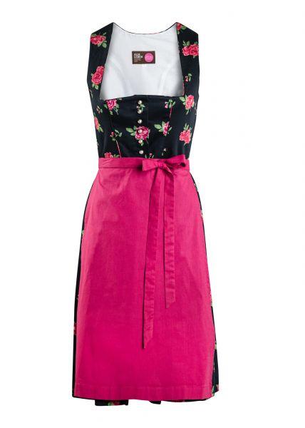 Dirndl Roserl 60cm, schwarz/pink