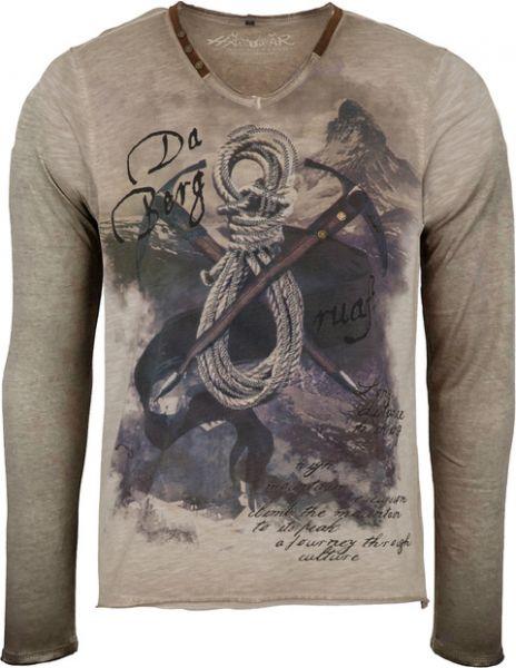 T-Shirt Emilo langarm, beige