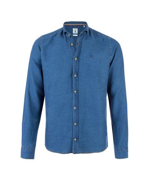Hemd Joe langarm, slim fit, blau