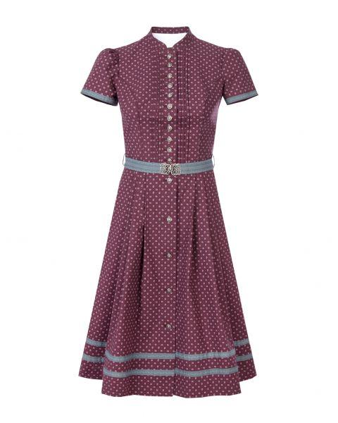 Kleid Rubina 65cm, weinrot/grau