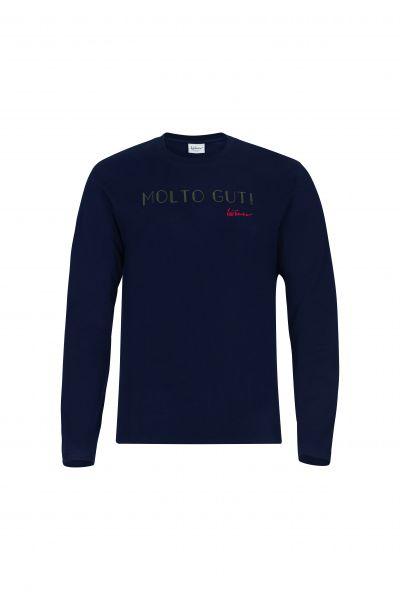 T-Shirt Moto Gut langarm, blau