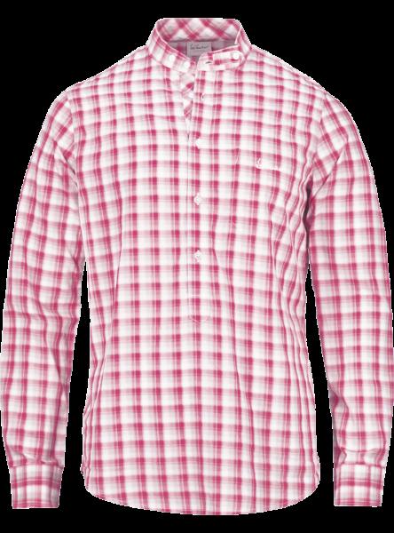 Hemd langarm Bennett, rot/rosa