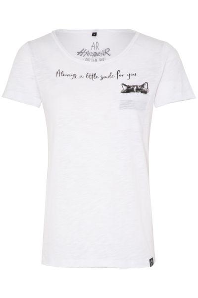 T-Shirt Cat, weiß
