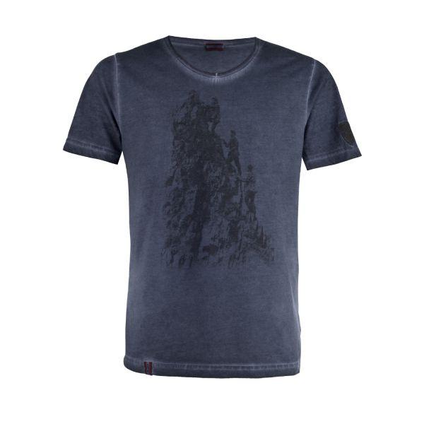 Almgwand, Herren T-Shirt Bergufer, dunkelblau