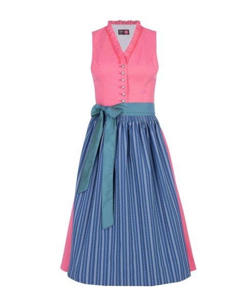 Dirndl Dorothea 70cm, rosa/blau