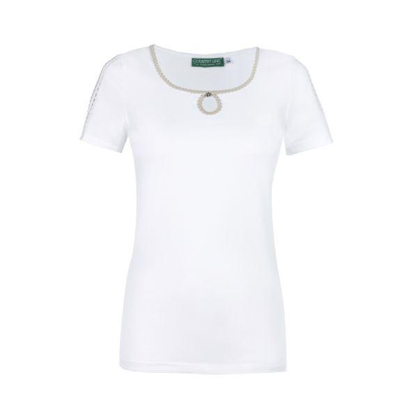 Country Line, Damen T-Shirt, weiß