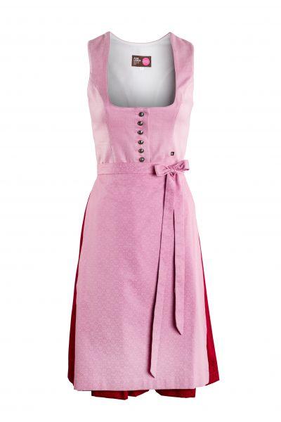 Dirndl Selma 60cm, rosa/rot