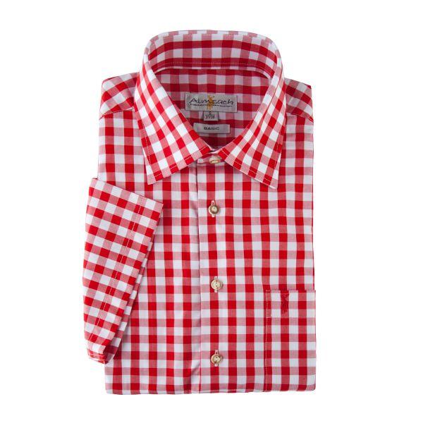 Hemd kurzarm, regular fit, rot