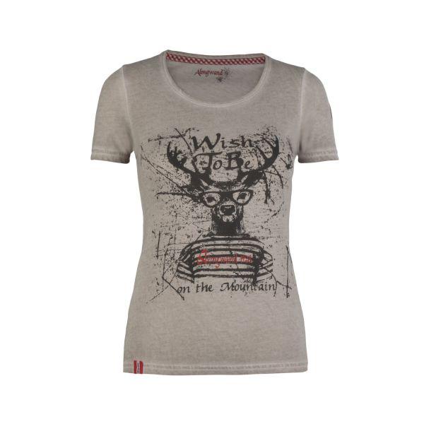 Almgwand, Damen T-Shirt Bischofsmütze, beige