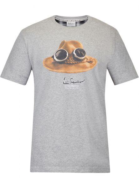 T-Shirt kurzarm Hut, grau