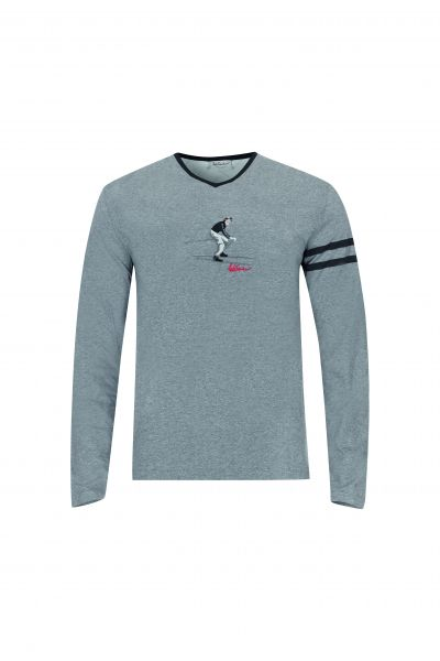 T-Shirt Carsten langarm, grau