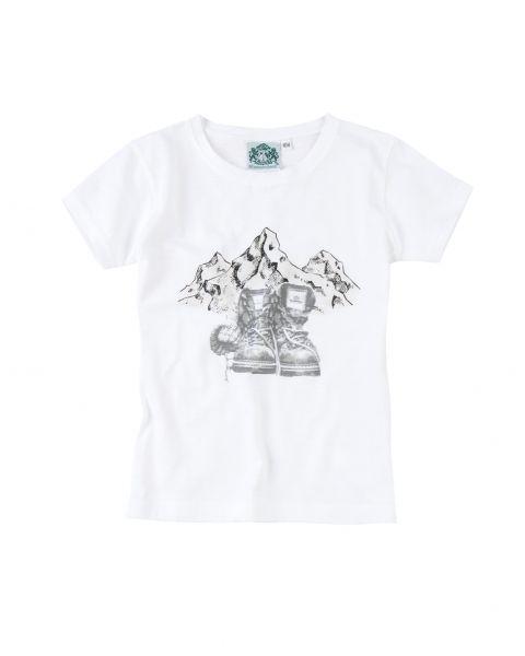 T-Shirt Bergstock, weiß