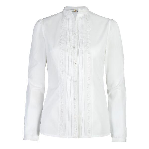 Almsach, Damen Bluse langarm, weiß, weiß