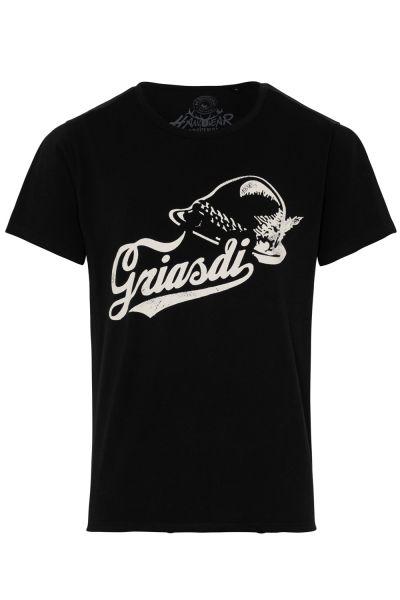 T-Shirt Simmal, schwarz
