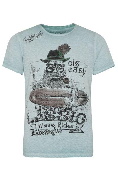T-Shirt Hans, türkis