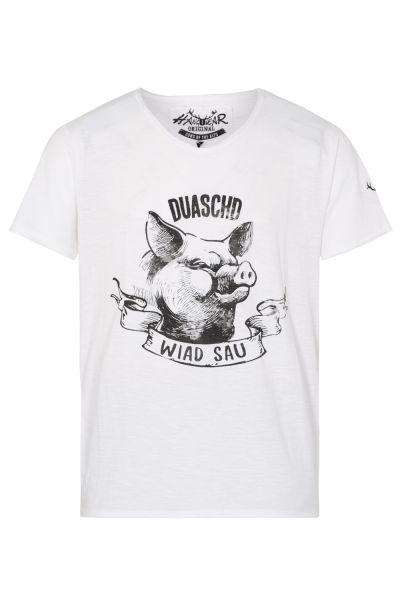 T-Shirt Stachus, weiß