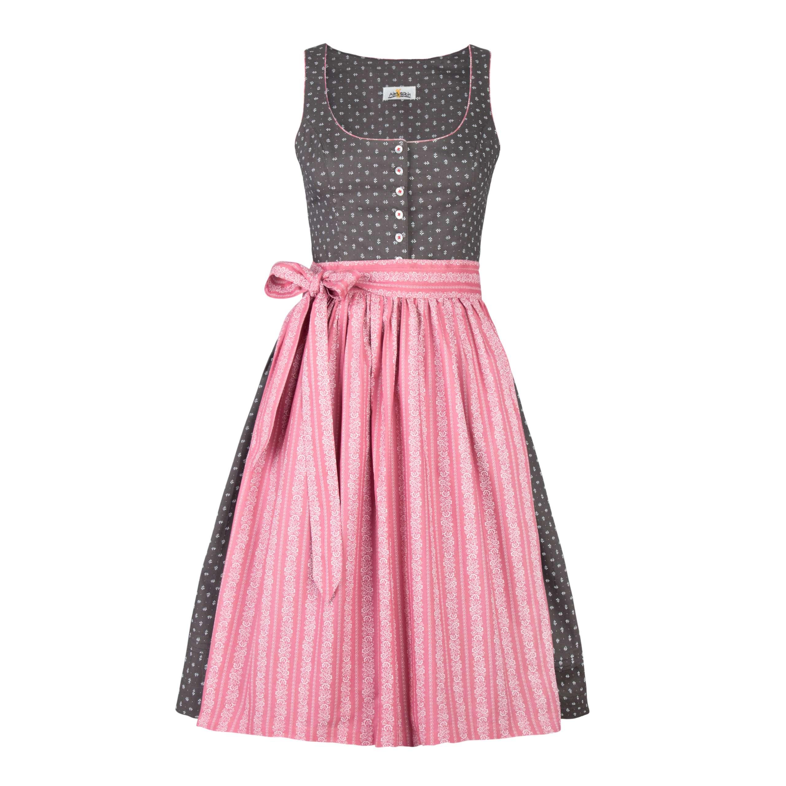 Almsach, Damen Dirndl , grau/rosa | Dirndl | Damen | Almleben - Austrian  Lifestyle Shop
