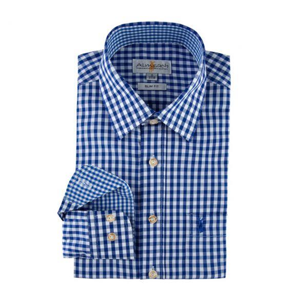 Almsach, Herren Hemd langarm, slim fit, jeans Frontansicht