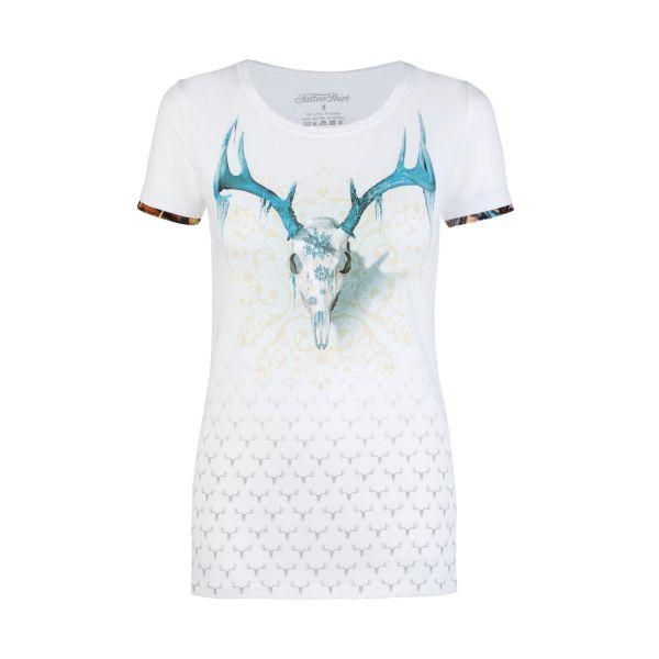 Andre Zechmann, Damen T-Shirt Snow, weiß