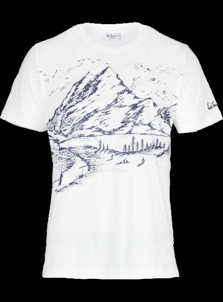 Luis Trenker, Herren T-Shirt Konstantin, weiss