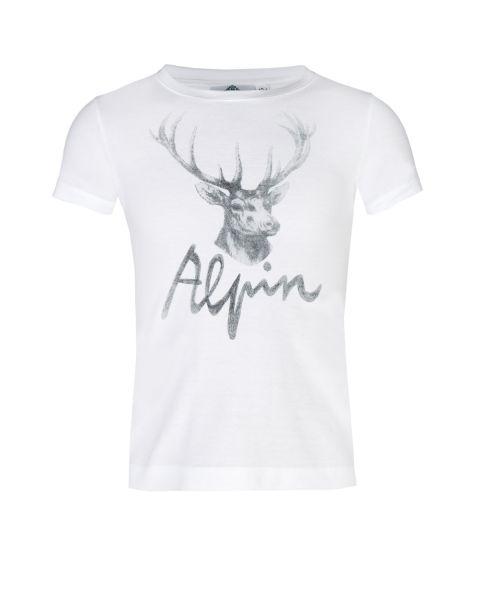 T-Shirt Alpin, weiß