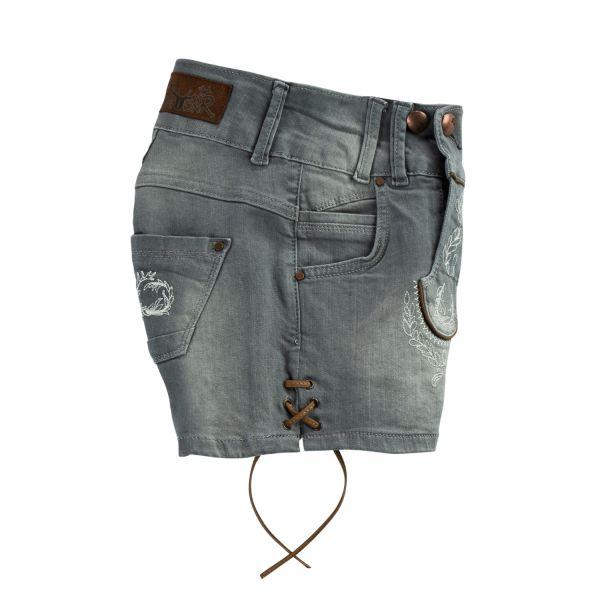 MarJo, Damen Jeans Short, grau