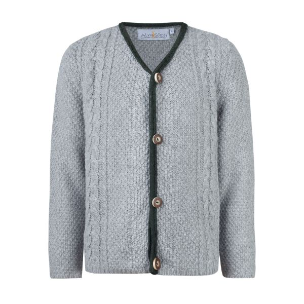 Kinder Strickjacke, grau