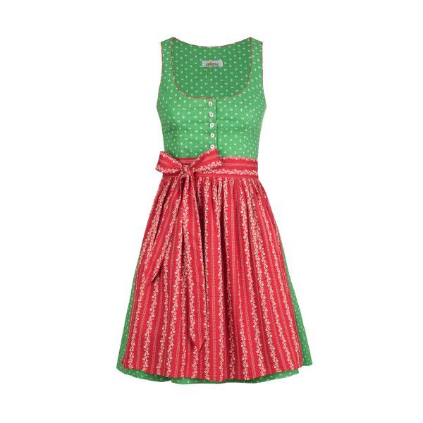 Almsach, Damen Dirndl Irmi 50cm, grün/rot