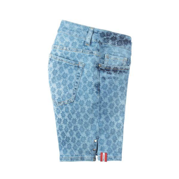 Almgwand, Damen Short Silberpfenning, blau