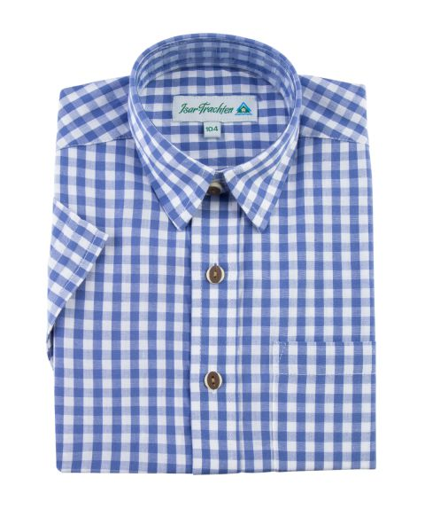 Hemd kurzarm, blau