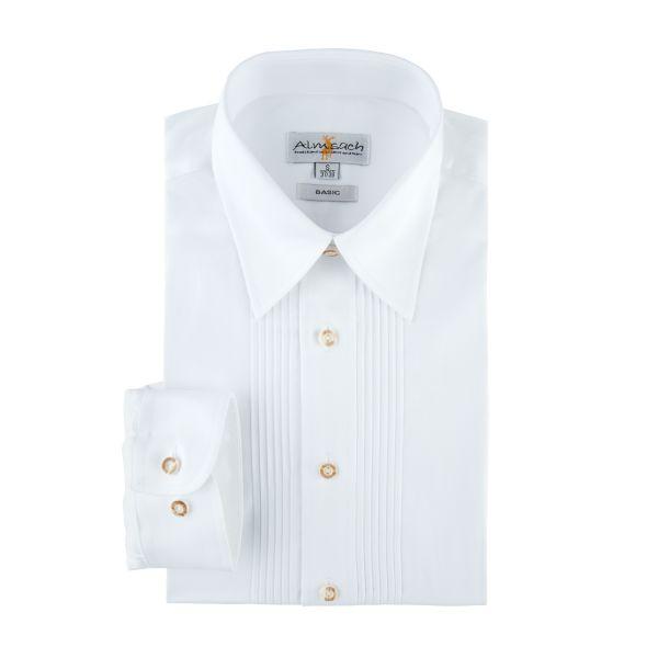 Almsach, Herren Hemd langarm, regular fit, weiß