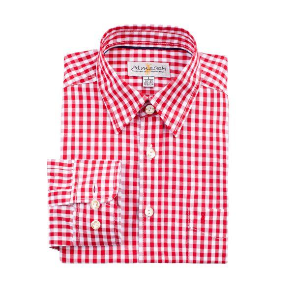 Almsach, Kinder Hemd langarm, rot