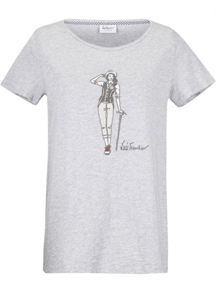 Luis Trenker, Damen T-Shirt Carmela, grau