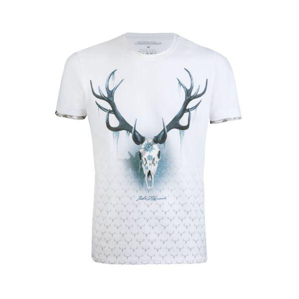 Andre Zechmann, Herren T-Shirt Snow, weiß
