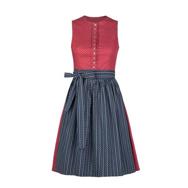 Almsach, Damen Dirndl Jaggi 60cm, rot/blau