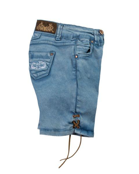 Lederhose Jeans, dunkelblau