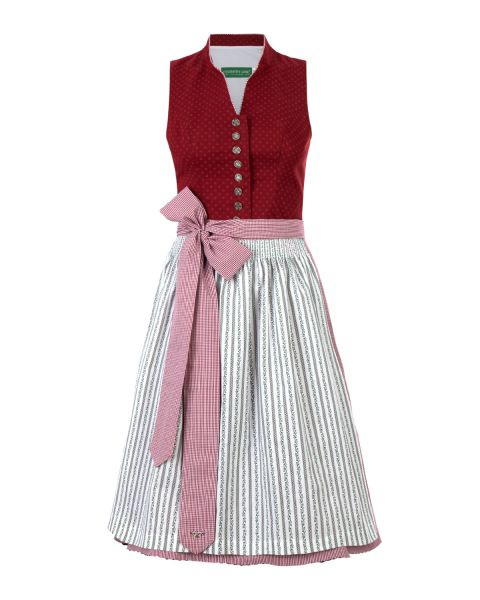 Dirndl Susi, rot/weiss