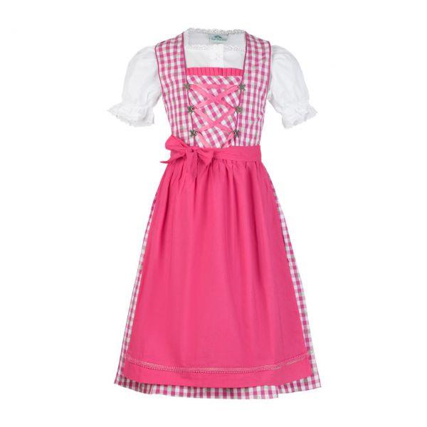 Isar-Trachten Kinder Dirndl rosa