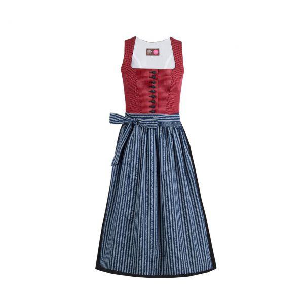 Almleben Damen Pinzgauer Dirndl 70cm rot-blau