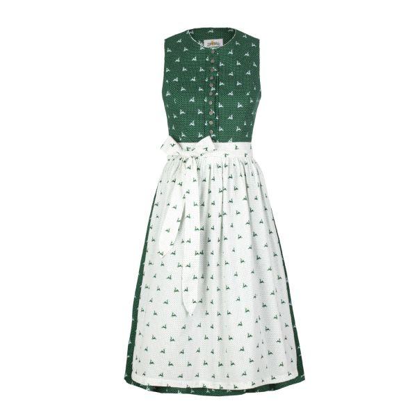 Almsach, Damen Dirndl Jaggi 60cm, grün/weiß