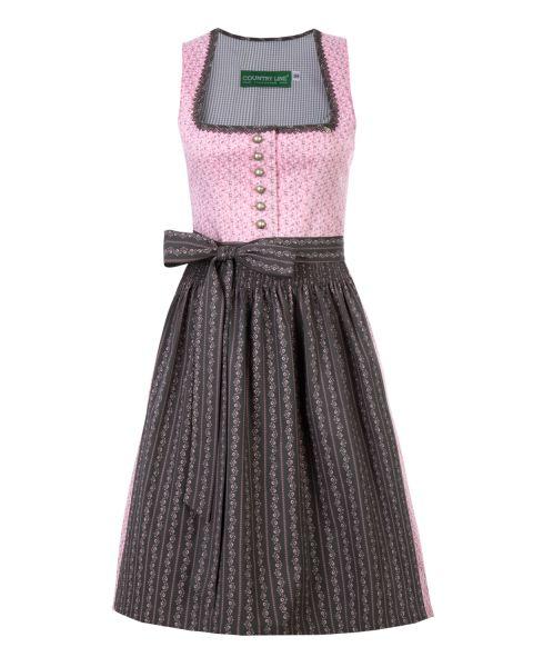 Damen Dirndl 60cm, rosa/grau