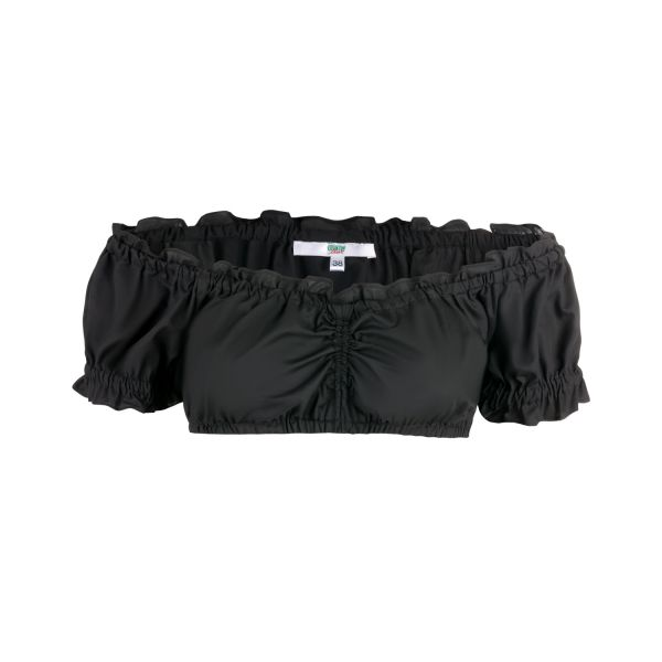 Damen Carmen Dirndl Bluse, schwarz