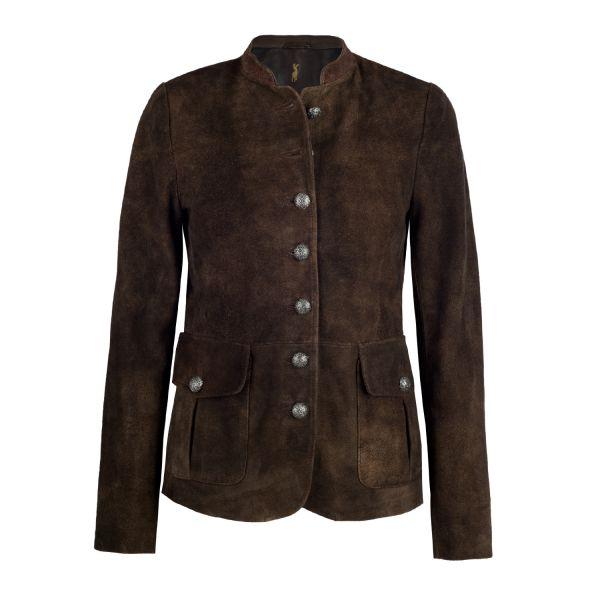 Almsach, Damen Leder Jacke , braun