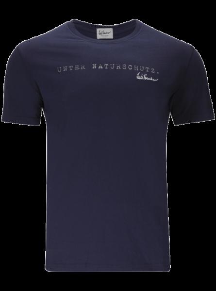 T-Shirt Unter Naturschutz, dunkelblau