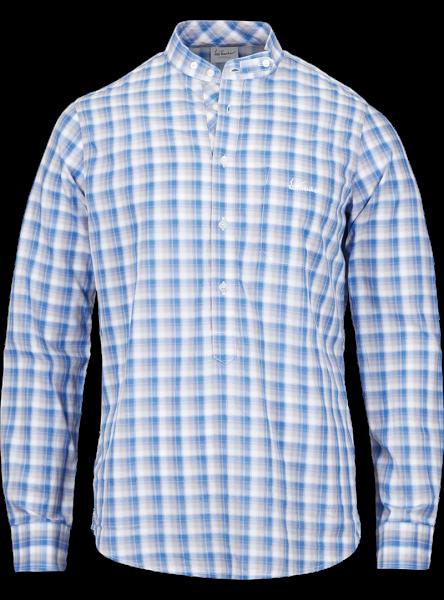 Hemd langarm Bennett, blau/grau